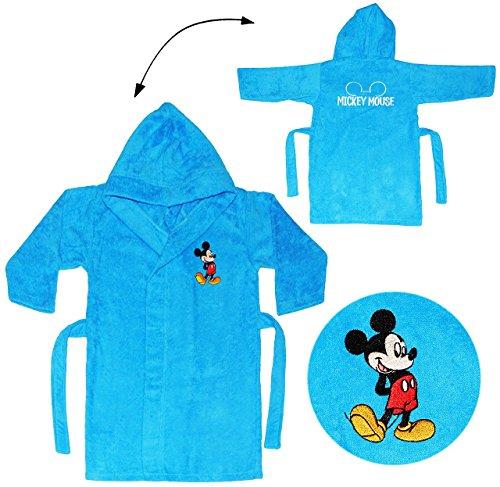 Frottee Bademantel -  Disney Mickey Mouse  - 2 bis 4 Jahre / Gr. 92 - 110 - 100 % Baumwolle - mit Kapuze - für Kinder / Mädchen & Jungen - Hausmantel / Morg.. ()