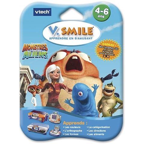 Vtech - Cartucho de programas para ordenadores educativos Monstruos Contra Alienígenas (80-084445) (versión en francés)