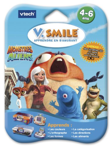 Vtech-Cartouche de Spiel v. Smile (Motion) 3D Monster gegen Aliens-84445