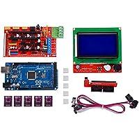 Kingprint Mega 2560R3Board + LCD12864+ rampe 1.4+ 5PCS DRV8825stepper Motor driver modulo con dissipatore di calore per stampante 3D