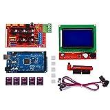 Tableau Kingprint Mega 2560R3+ Lcd12864+ Rampes 1.4+ 5pcs Drv8825Moteur pas à pas Driver module avec dissipateur thermique pour imprimante 3d