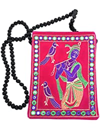 Brisfine Clutch For Womens | Jaipuri Purse | Shoulder Bag For Girls |Bridal Clutch For Patry | Attractive Rajasthani... - B07C9436MN