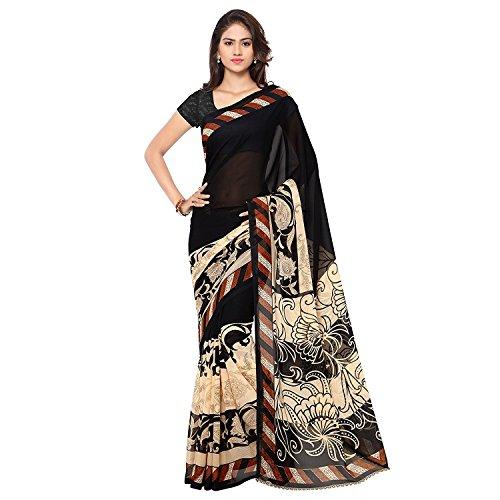 Kashvi Sarees Georgette Saree With Blouse Piece (1134_Multicoloured_Free Size)