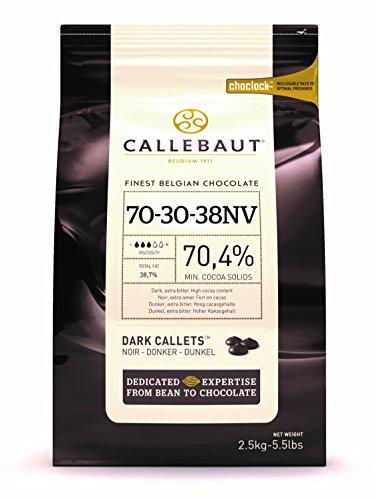 Callebaut 70% dark chocolate chips (callets) 2.5kg by Callebaut