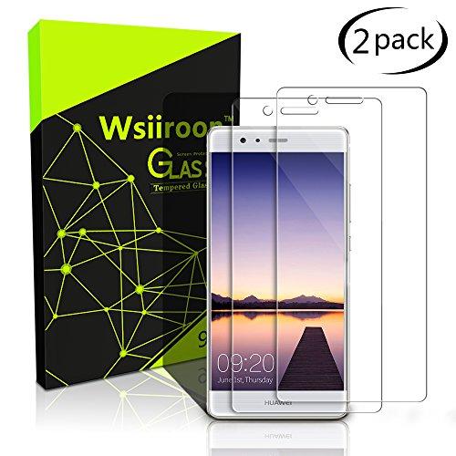 Zuerst Reinigen Kit (Schutzfolie für Huawei P9 Lite, [2 Stück] Wsiiroon Panzerglas mit 3D Touch Kompatibel-0.33mm für Huawei P9 Lite, 9H Härte, 2.5D Kanten, 99% Transparente Displayschutzfolie für Huawei P9 Lite)