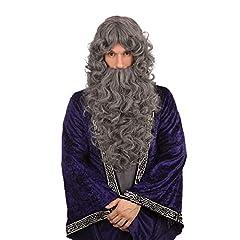 Idea Regalo - Bristol novità BW573guidata parrucca e barba set grigio bilancio, taglia unica