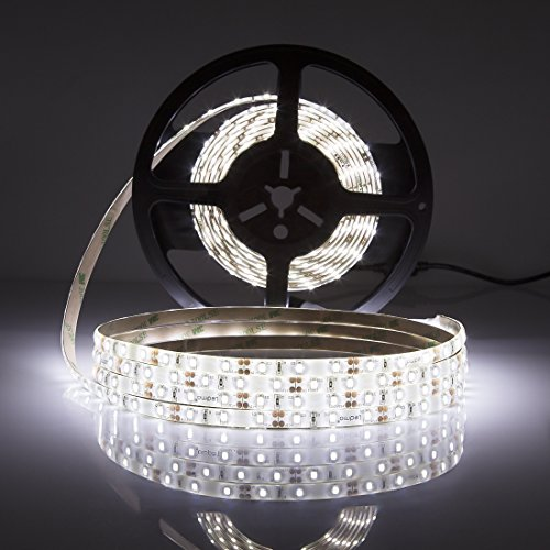 LEDMO® Kaltweiß LED Stripes 300 LEDs(SMD2835), Streifen 5M, Band, lichband, Leiste,Lichtleiste,Bänder,Lichtschlauch 12VDC