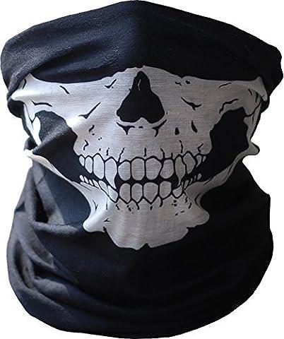 Cagoule Masque Crâne, Cache Cou, Balaclava Demi Visage Bandana Anti-Poussière
