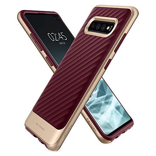 Spigen 606CS25775 Neo Hybrid Kompatibel mit Samsung Galaxy S10 Plus Hülle, Zweiteilige Handyhülle Silikon und PC Rahmen Schutzhülle Case Burgundy