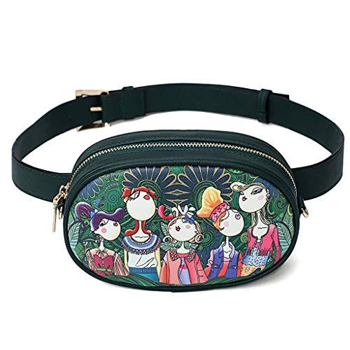 Dabixx Riñonera, Moda Mujer Fanny Pack Travel Belt Purse Bolsas de Hombro Tote Green