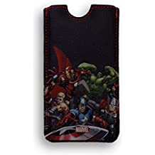 FUNDA PIEL IPHONE 5 DELUXE LEATHER SLEEVE MARVEL AVENGERS VENGADORES HEROES