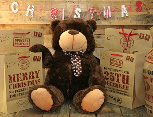 Extra Large 80Cm Super Cuddly Plush Giant Sitting Teddy Bear Soft Toy (Brownie) by Teddy Bears
