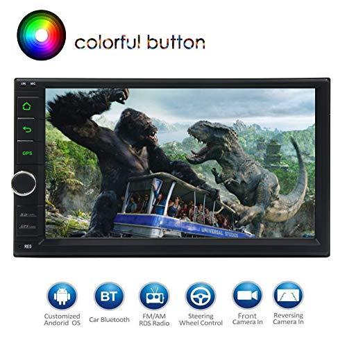 Android 8.1 Oreo Octa-Core 2 GB DDR3-RAM 32GB ROM 7 kapazitive Zoll-Screen-Auto-Stereoradio GPS Beidou Glonass Galileo 1080P Video WiFi 3G 4G OBD2 Schirm Mirroring Bluttoth Dual-Kamera-Eingang USB SD