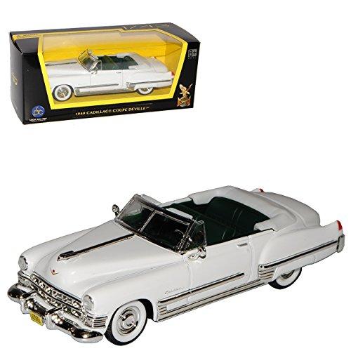 Lucky Die Cast Cadilac Coupe DeVille Cabrio Weiss Elvis Presley 1949 1/43 Yatming Modell Auto mit individiuellem Wunschkennzeichen