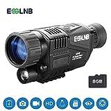 ESSLNB Nachtsichtgerät Jagd Militär 5X Vergrößerung mit 8GB TF Karte Infrarot Kamera und...