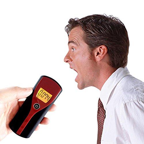 Sunnyday Professional Digital LCD Display Alcohol Breathalyzer Breath Tester
