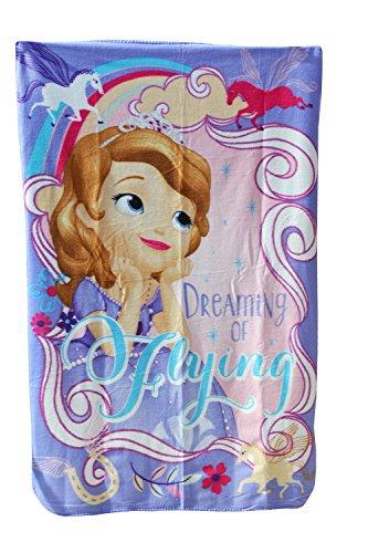 Fleece-Decke/Überwurf für Kinder, Mädchen, Jungen, mit Disney/Marvel-Personen, 100cm x 150cm, Princes Sofia, 150 cm x 100 cm