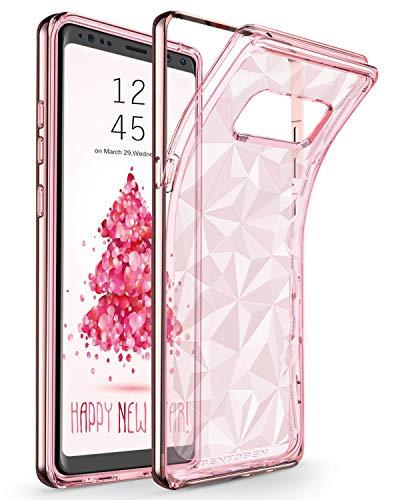 Samsung Note 8 hülle, Galaxy Note 8 Schutzhülle, BENTOBEN Note 8 Handyhülle kratzfest mit Silikon Case Plating PC Schutzrahmen Hülle für Samsung Galaxy Note 8 Transparent RoseGold