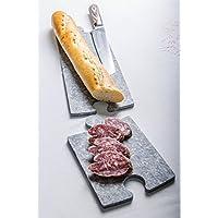 Set di 2 Taglieri componibili a puzzle, piatti da portata e finger food in Pietra di Luserna