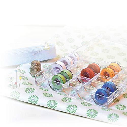 Gütermann Aufbewahrungsbox Garnrollen von G&uumltermann, aus transparentem Acryl, f&uumlr 25&nbspGarnrollen, Farblos, One Size