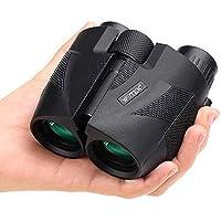 WOTEK Prismaticos 12×25 Mini Portátil con Prismas BAK4 y FMC, Prismáticos Profesionales HD para Camping, Observación de Aves, Eventos Deportivos, Prismaticos Pequeños y Potentes para Niños y Adultos