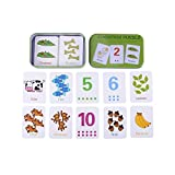Flash Cards Early Learning Enlightment Toy Card With Iron Box Suitable For Kids Children Toddler Match Game Puzzle Cards(#1)