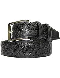 3d0a296de6 Cintura uomo Roncato in pelle classica 120cm Nero effetto treccia 1377