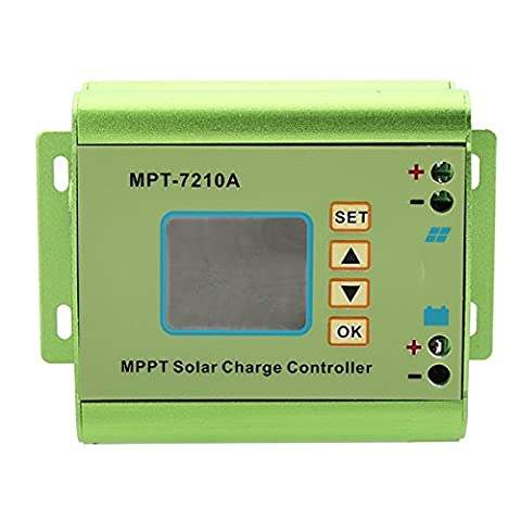 MASUNN MPT-7210A Aluminum Alloy MPPT Solar Panel Charge Controller with LCD Display