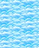 Cloud Stoff–Wolken blau–bla44–0,5Meterware–von blanko Textilien–100% Baumwolle