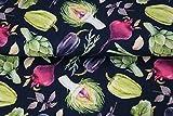 Stenzo – Jersey Stoff mit Gemüse I Digital Druck