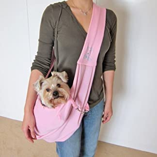 Dogloveit Chico Reversible Pet Sling Carrier, Pink 14