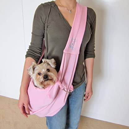 Dogloveit Chico Reversible Pet Sling Carrier, Pink 1