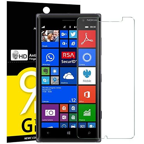 NEW'C Lot de 3, Verre Trempé pour Nokia Microsoft Lumia 830, Film Protection écran - Anti Rayures - sans Bulles d'air -Ultra Résistant (0,33mm HD Ultra Transparent) Dureté 9H Glass