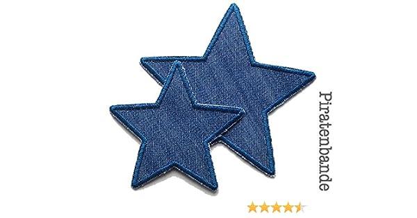 Applikation Aufnäher Stern Patch Knieflicken Flicken Hosenflicken Button Jeans