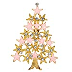 Brooch Pin,Ouneed® Crystal Christmas Tree Snowman Brooch Pin for Women Men Costume Jewelry Gift Decoration