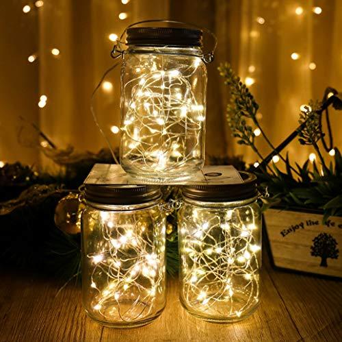 New American LED Solar Mason Jar Bottle Lights Star Lights Firefly Lights Room Decoration Lights