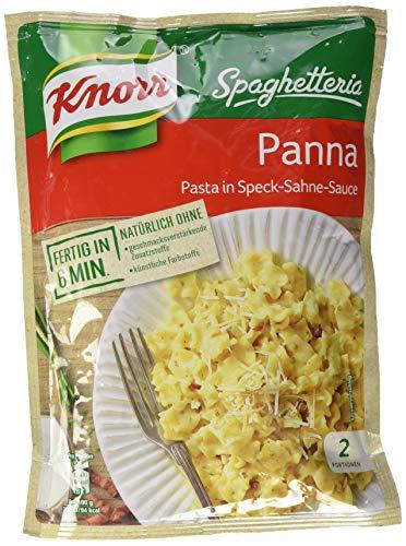 Knorr Spaghetteria Panna Nudel-Fertiggericht Pasta in Speck-Sahne-Sauce, 153g 2 Portionen