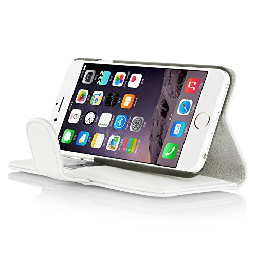 """iPhone 6 Hülle, JAMMYLIZARD Ledertasche Flip Cover für iPhone 6 und 6s 4.7"""", ROT WEIß"""