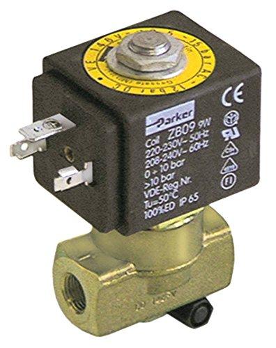 SCEM PARKER Magnetventil für Kaffeemaschine Vibiemme Domobar-Super-Manuale, Domobar-Super Messing 230V 2-Wege Eingang 1/8\' DN 3