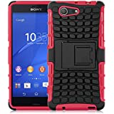Xperia Z3 Compact Hülle, JAMMYLIZARD [ ALLIGATOR ] Doppelschutz Outdoor-Hülle für Sony Xperia Z3 Compact, ROT