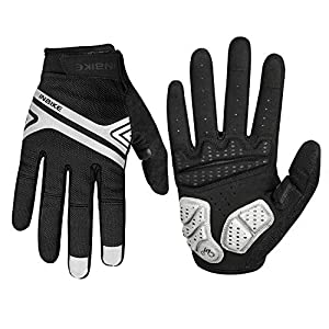 INBIKE Men's and Women's Cycling Gel Gloves, Road Bike Gloves with Padded 5mm EVA for MTB Bicic Cyclist (Black, XL)