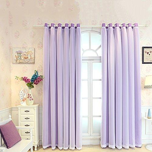 YAN Wohnzimmer Vorhänge Mode Romantik Vorhang Fenster Zimmer Vorhang Mädchen Vorhänge Vorhänge Thermische Isolierte Proof Mite Persönlichkeit UV Schatten (Color : Lila, Größe : 2.5x2.7M)
