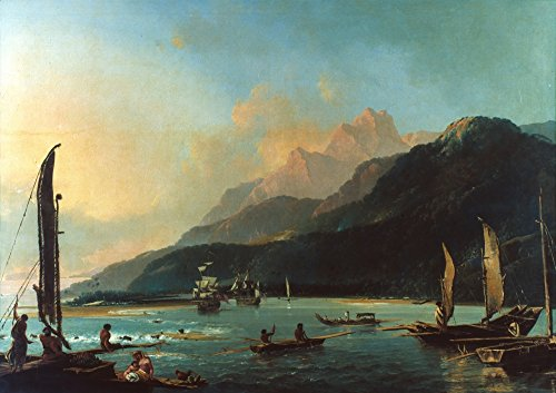 The Poster Corp Cook: Tahiti 1773. /Nmatavai Bay and Point Venus Tahiti C1773. Oil by William Hodges. Kunstdruck (60,96 x 91,44 cm) -