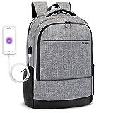 Dtbg 43,9cm Sac à dos pour ordinateur portable avec USB Ports de chargement résistant à l'eau mixte à compartiments multiples d'école pour s'adapter pour ordinateur portable MacBook Chromebook gris