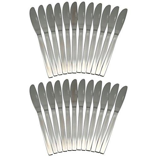 Lot de 24 couteaux de table en acier inoxydable