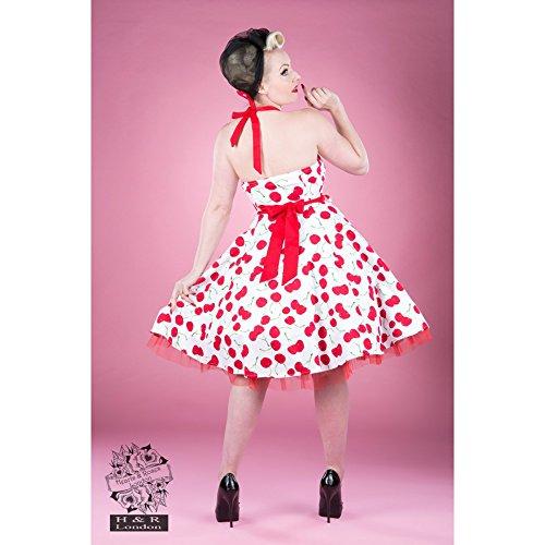 H r london & robe robe 4004 crème cHERRY Blanc - Rouge