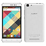 [Great Mother's Day Gift] CUBOT Rainbow Mobile Phone Android 6.0 Operation System 5.0 inch IPS Screen GSM/WCDMA No-Contract Smartphone Dual SIM Card Standby MT6580 Quad-Core CPU 16GROM 1G RAM (White)