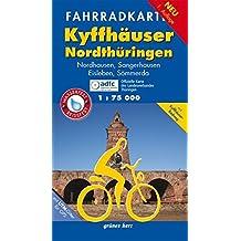 Fahrradkarte Kyffhäuser, Nordthüringen: Mit Nordhausen, Sangerhausen, Eisleben, Sömmerda und Kyffhäuser-Radweg. Mit UTM-Gitter für GPS. Maßstab 1:75.000. Wasser- und reißfest. (Fahrradkarten)