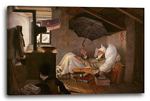 Printed Paintings Leinwand (60x40cm): Carl Spitzweg - der Arme Poet