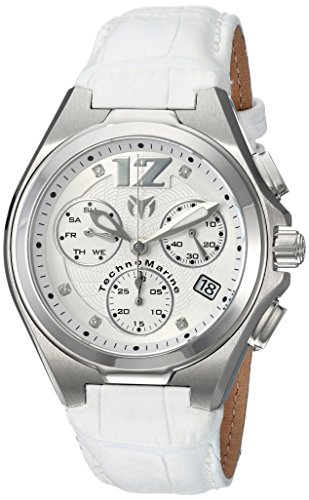 Technomarine Men s Manta Stainless Steel Quartz Watch with Leather Calfskin  Strap 246c2e2feaf7